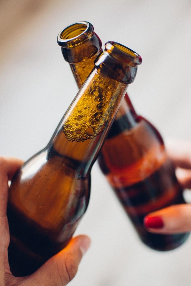 Two bottles of beer